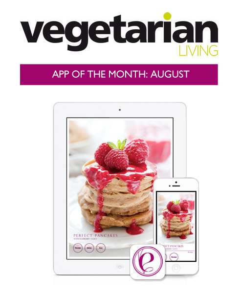 Vegetarian Living choses Elegantly Vegan as App of the month