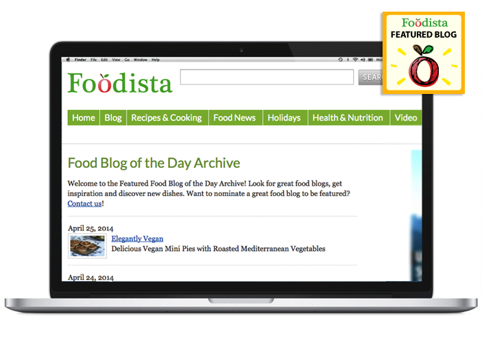 Elegantly Vegan featured blog of the day - Foodista